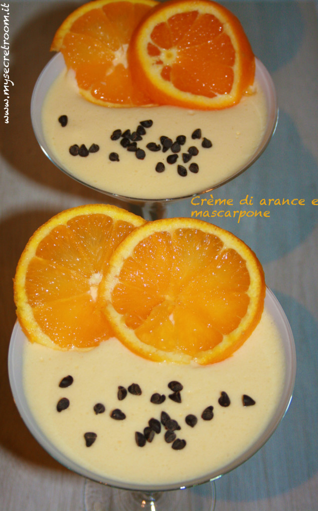 crème di arance e mascarpone