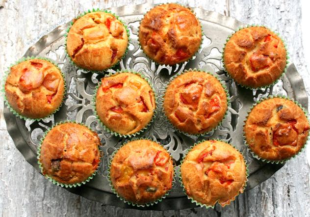 muffin ai due peperoni