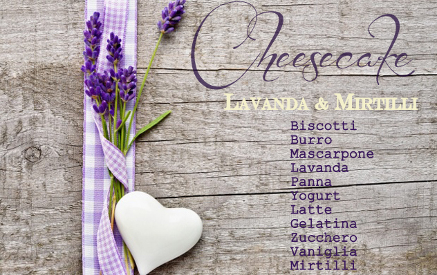 cheesecake lavanda e mirtilli senza cottura