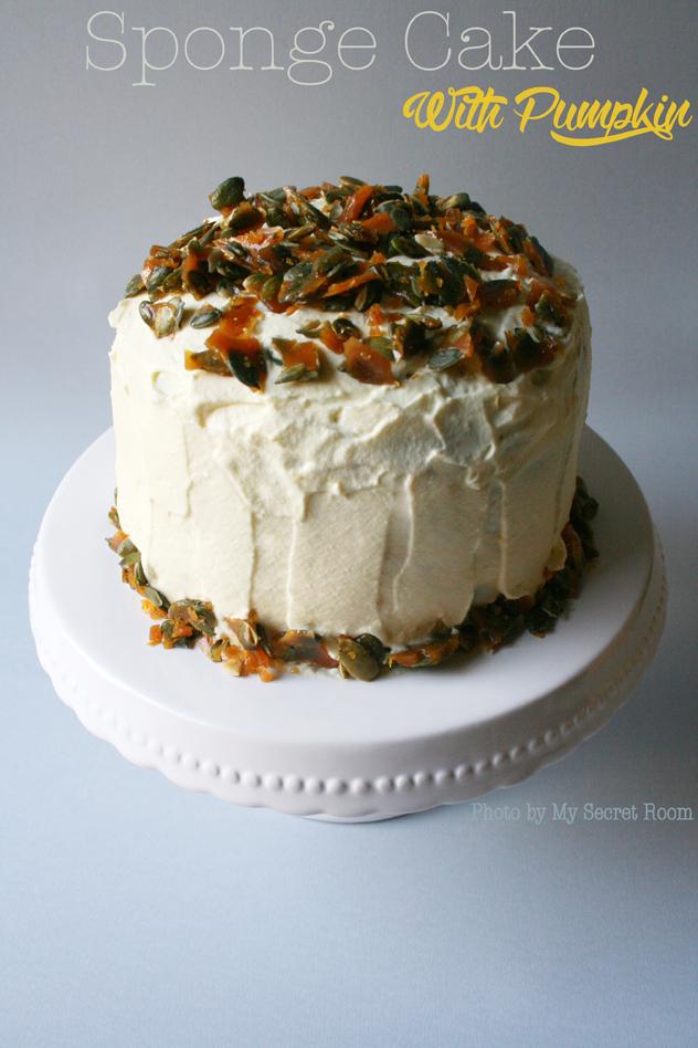 sponge cake zucca e mascarpone 3
