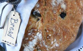 NO KNEAD BREAD pane senza impasto con le olive