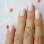 anello heart knuckle € 7,51 Lalinne su Etsy
