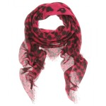 sciarpa a stampa animalier e teschi in seta e cachemire € 450,00 Alexander McQueen