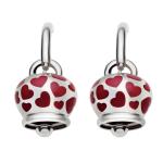 orecchini campanella argento e cuoricini smaltati rossi - prezzo su richiesta Chantecler Capri