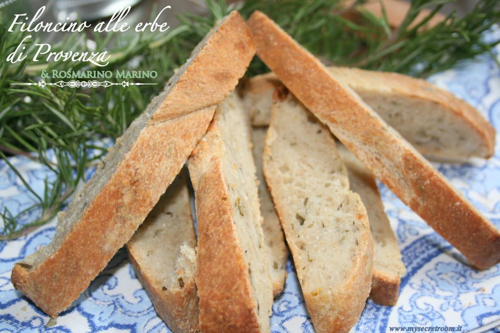 filoncino di pane alle erbe di provenza e rosmarino marino