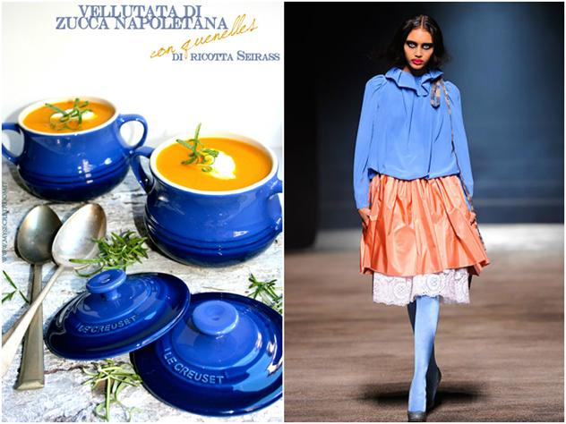 Vellutata di zucca ispirata alla creazione della stilista Vivienne Westwood