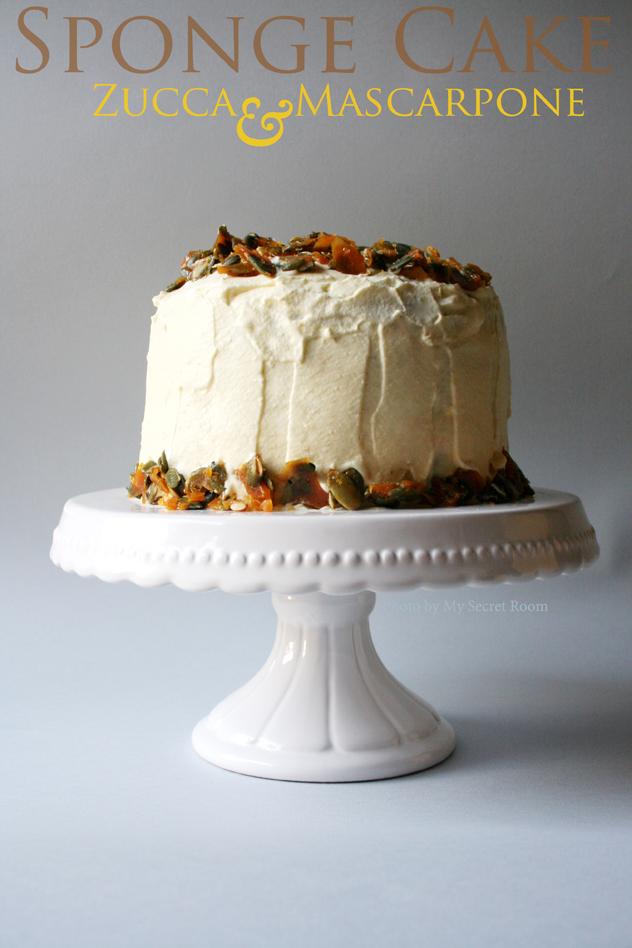 sponge cake zucca e mascarpone