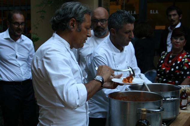a Milano con lo chef Filippo La Mantia e i pomodori Agromonte_F33