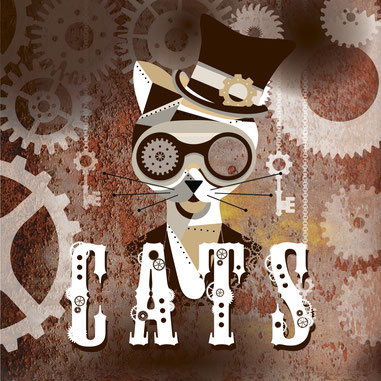 cats steampunk